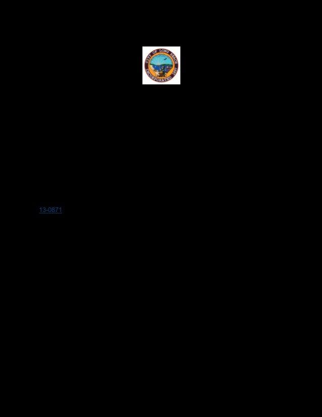 333 W. OCEAN BOULEVARD COUNCIL CHAMBER, 5:00 PM CITY OF LONG BEACH TUESDAY, OCTOBER 1, 2013 CITY COUNCIL AGENDA Dr. Robert...