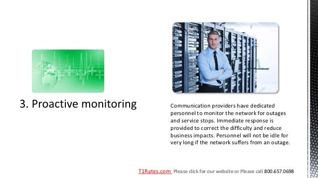 Communication providers have dedicated              personnel to monitor the network for outages              and service ...