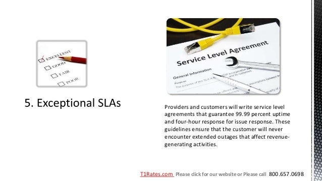 Providers and customers will write service level          agreements that guarantee 99.99 percent uptime          and four...