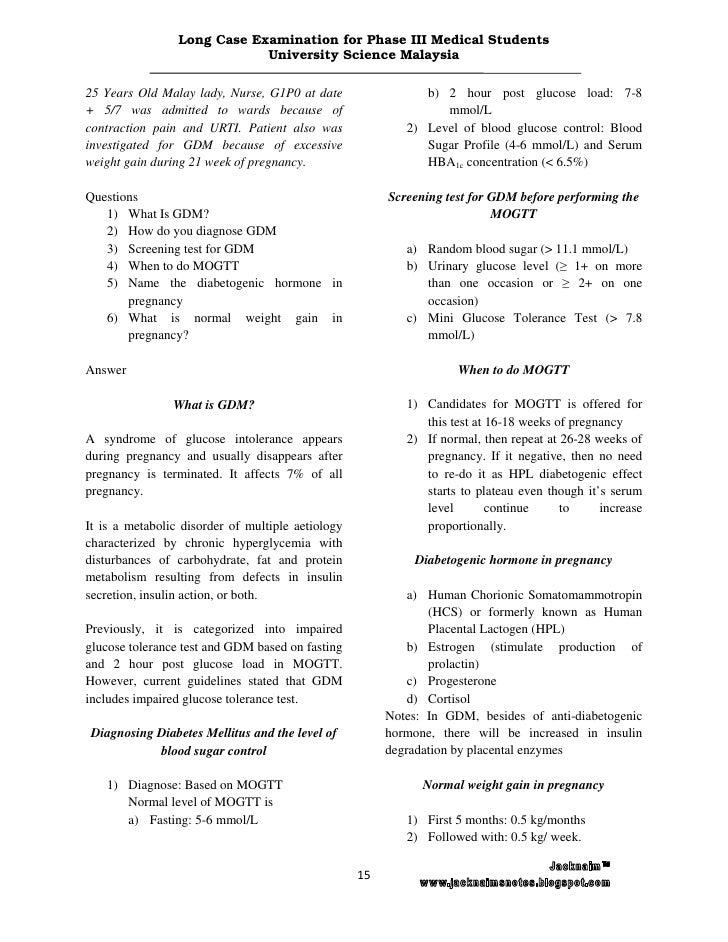 Long case examination for phase iii medical students usmkk