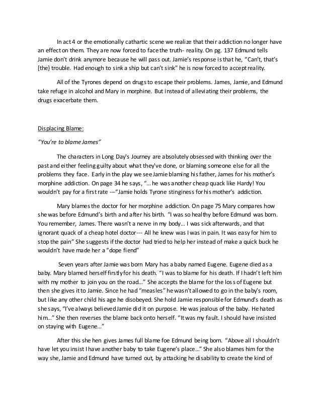 essay about long days journey into night