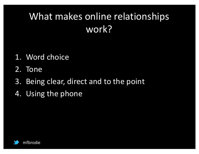 Can online relationships work