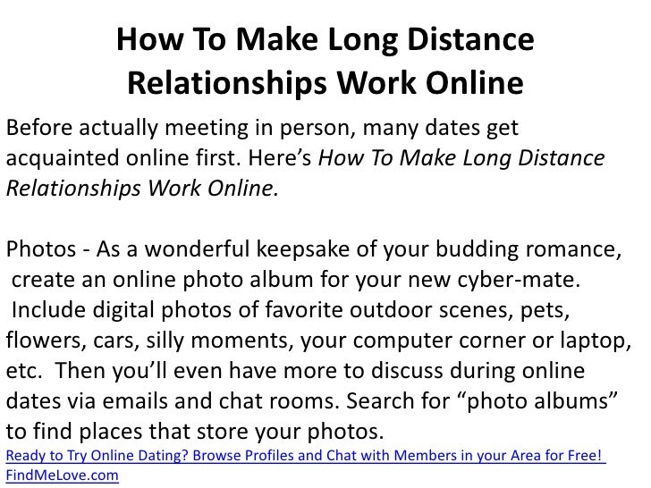 How to have a long distance relationship online