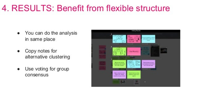 4. RESULTS: Benefit from flexible structure ● You can do the analysis in same place ● Copy notes for alternative clusterin...