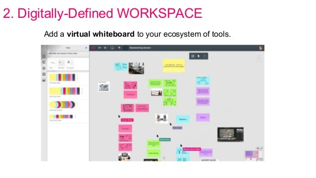2. Digitally-Defined WORKSPACE Add a virtual whiteboard to your ecosystem of tools.