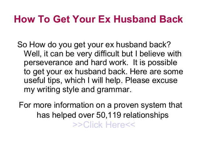 dealing with ex spouses