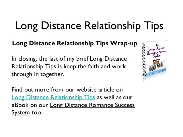 How to handle long distance relationships