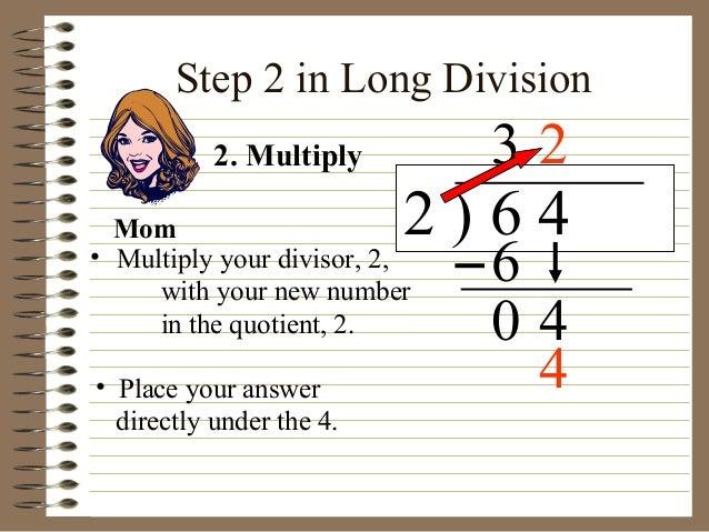 Long division 2 digit no remainder