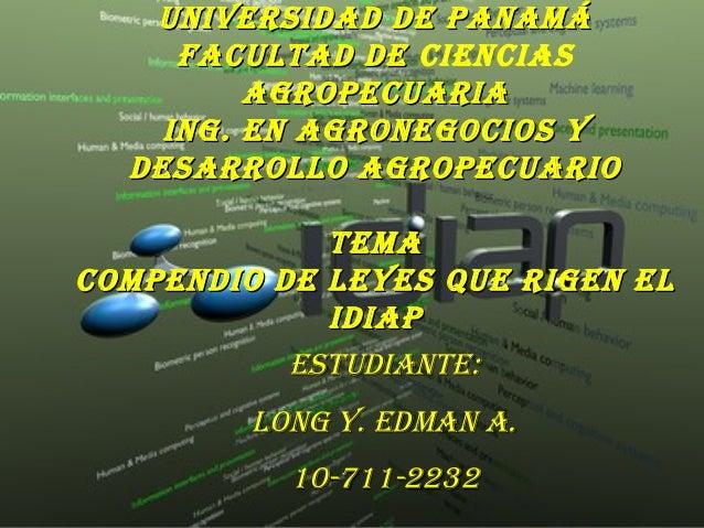 Universidad de PanamáUniversidad de PanamáFacUltad deFacUltad de cienciasagroPecUariaagroPecUariaing. en agronegocios ying...