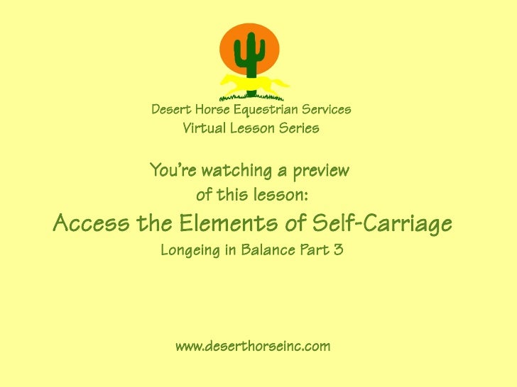 Desert Horse Equestrian Services              Virtual Lesson Series          You're watching a preview               of th...