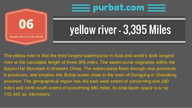 Top Longest Rivers In The World With Length Details - 7 longest rivers in the world