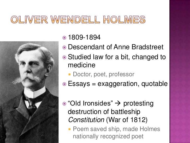 Oliver wendall holmes essays