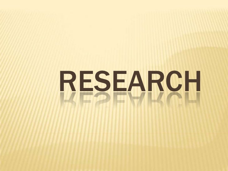 Research<br />