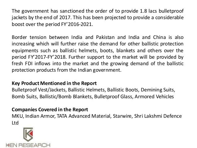 Ballistic protection Products from India: Ken Research