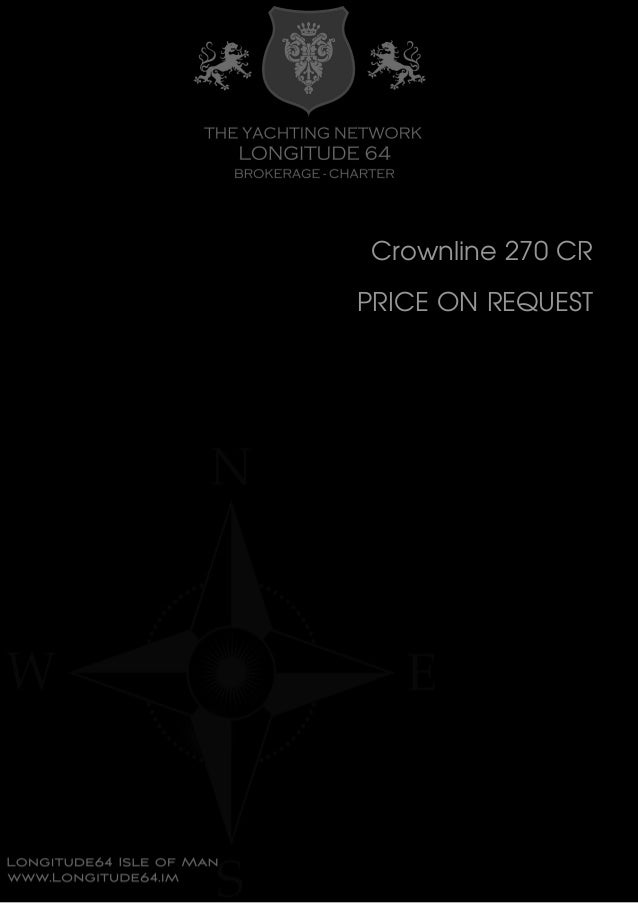 Crownline 270 CR PRICE ON REQUEST