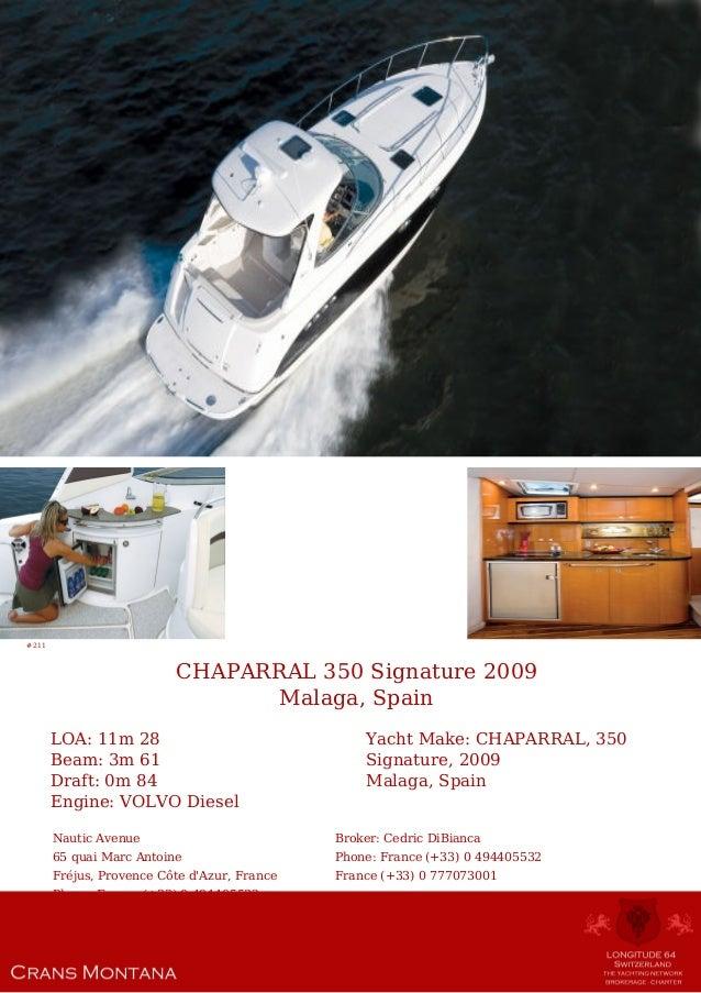 CHAPARRAL 350 Signature, 2009, 298 723 € For Sale Yacht