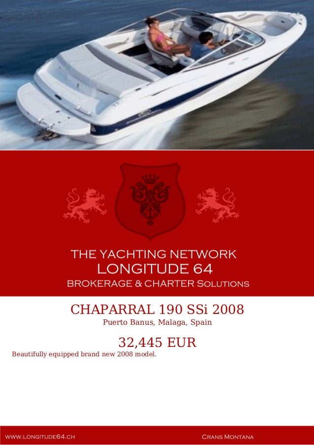 CHAPARRAL 190 SSi, 2008, 32 445 € For Sale Yacht Brochure