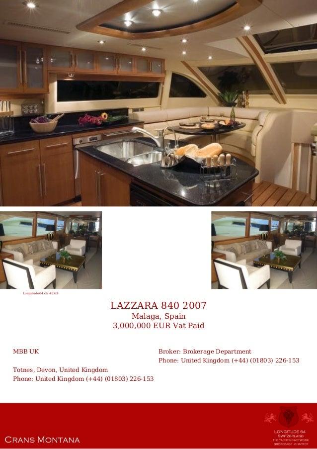 Lazzara 840 2007 3 000 000 For Sale Yacht Brochure