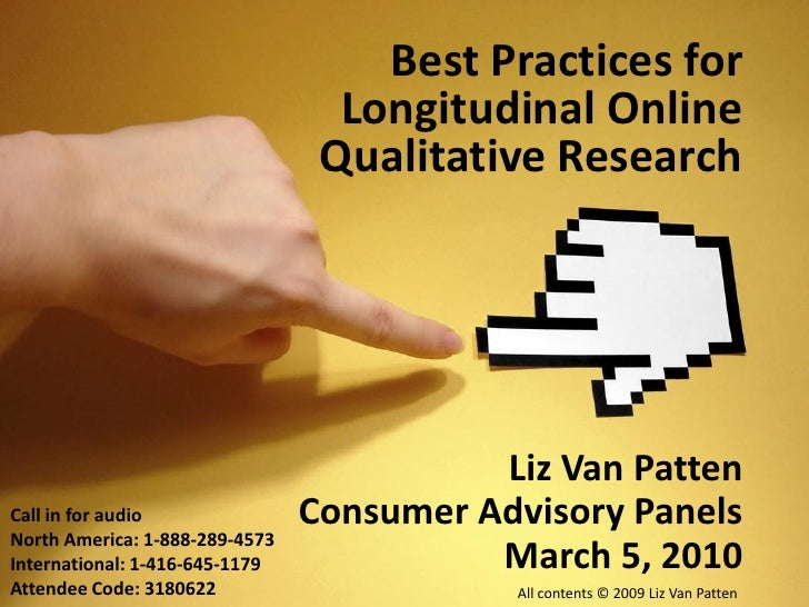 Best Practices for                                   Longitudinal Online                                  Qualitative Rese...