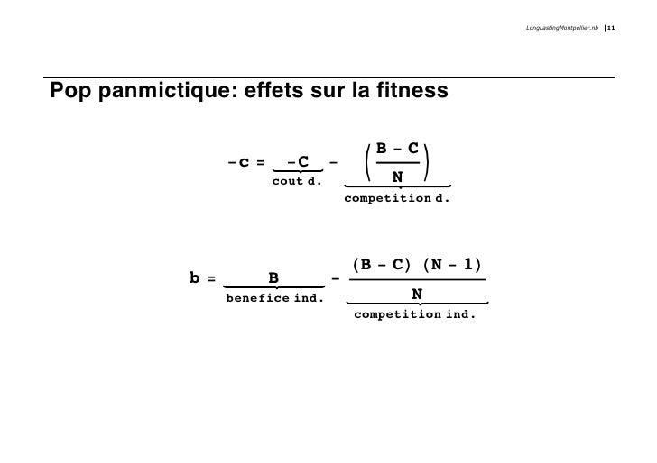 LongLastingMontpellier.nb   11     Pop panmictique: effets sur la fitness                                               B-...