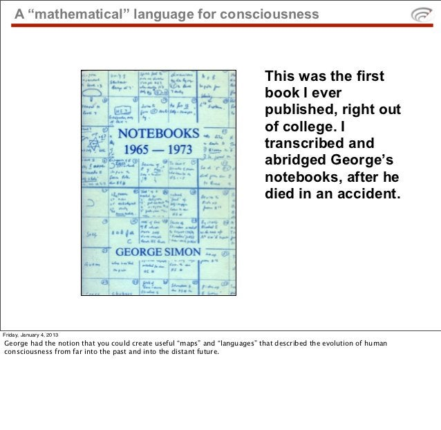 """A """"mathematical"""" language for consciousness                                                                           This..."""