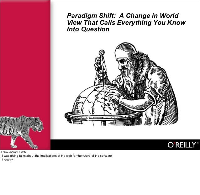 Paradigm Shift: A Change in World                                                View That Calls Everything You Know      ...