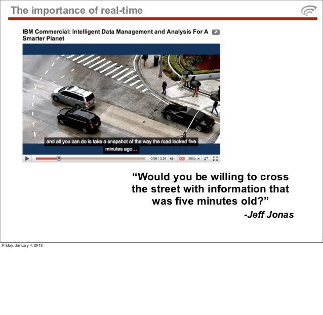 """The importance of real-time                            """"Would you be willing to cross                            the stree..."""