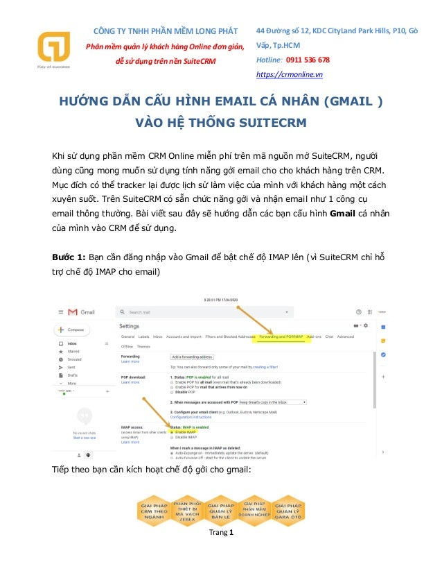 CÔNG TY TNHH PHẦN MỀM LONG PHÁT Phân mềm quản lý khách hàng Online đơn giản, dễ sử dụng trên nền SuiteCRM 44 Đường số 12, ...