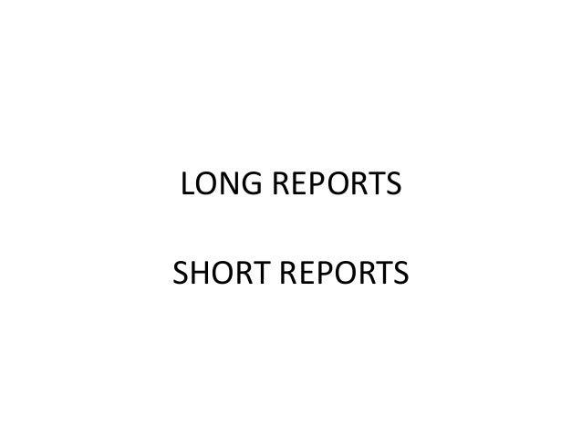 long report template