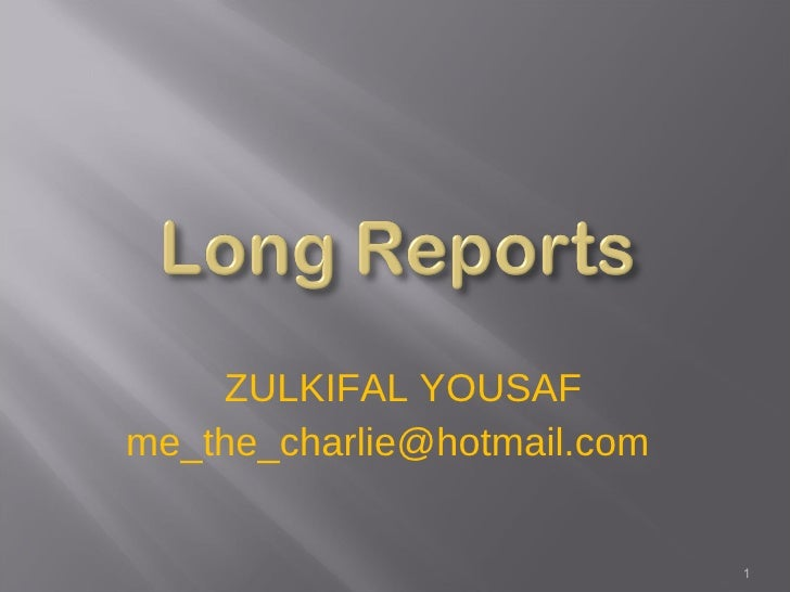 <ul><li>ZULKIFAL YOUSAF </li></ul><ul><li>[email_address] </li></ul>