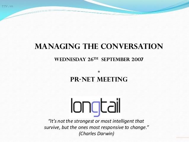 TTV.vn         Managing the conversation              Wednesday 26th september 2007                                   *   ...