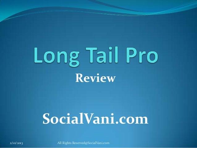 Review            SocialVani.com2/10/2013    All Rights Reserved@SocialVani.com