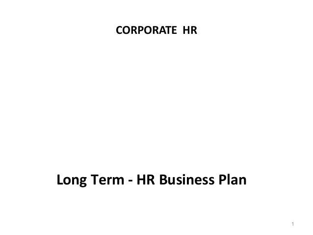 Long term business plan