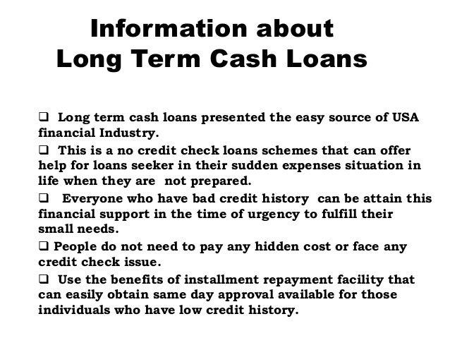 Long term financial needs