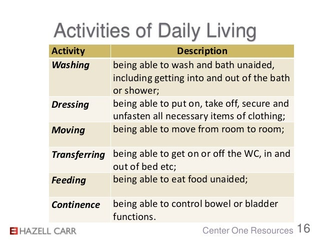 Activities Of Daily Living In Nursing – Palliative Care