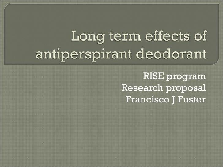 RISE program Research proposal Francisco J Fuster