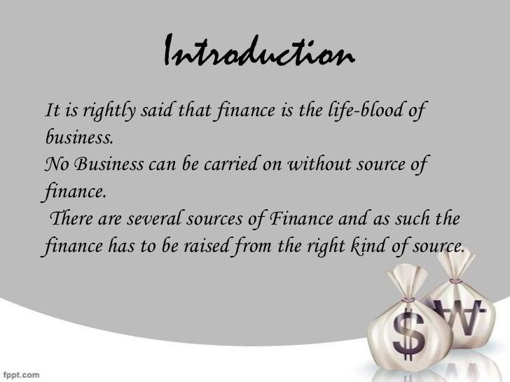 Sources of finance Slide 2