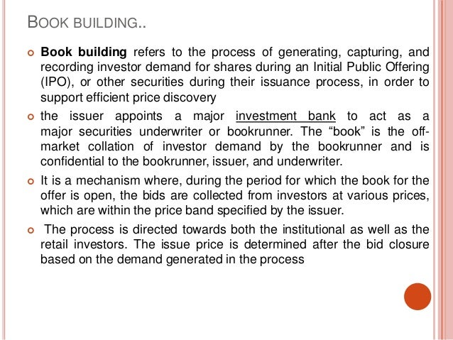 Firm commitment book building ipo