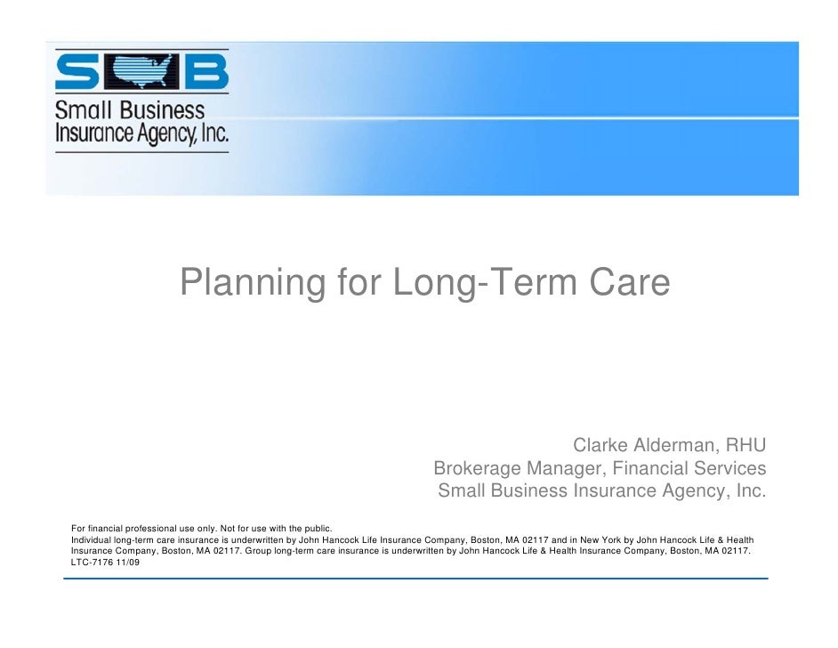 Planning for Long-Term Care                                                                                               ...