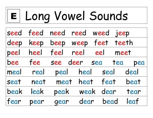 Long vowel in