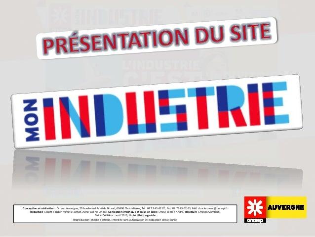 Conception et réalisation : Onisep Auvergne, 20 boulevard Aristide Briand, 63400 Chamalières, Tél. 04 73 43 62 62, Fax. 04...