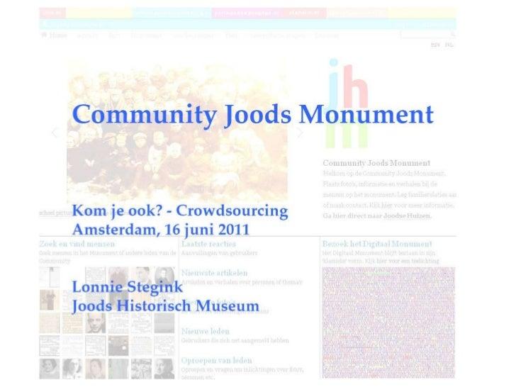 Presentatie Lonnie Stegink KJO9- Crowdsourcing