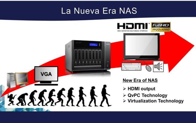 QvPC Technology El Turbo Station de QNAP puede ser usado como substituto de una PC con la capacidad de conectarse a un tec...