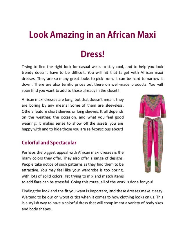 00b0f793296984 Look amazing in an african maxi dress!