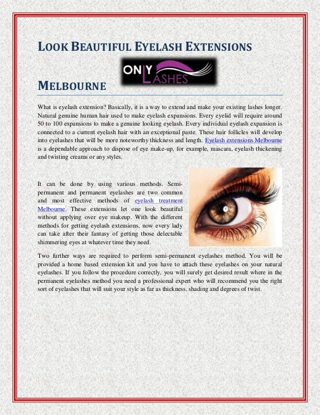 Look Beautiful Eyelash Extensions Melbourne