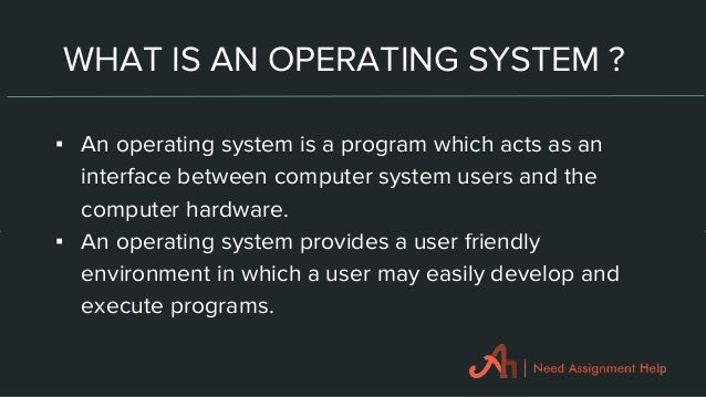 Homework help with understanding operating systems