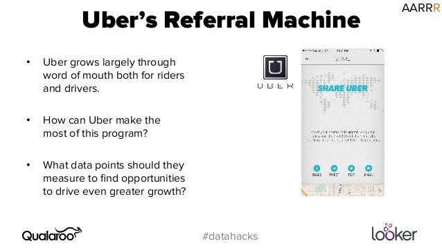 Premise Indicator Words: Uber's Referral Machine #datahacks