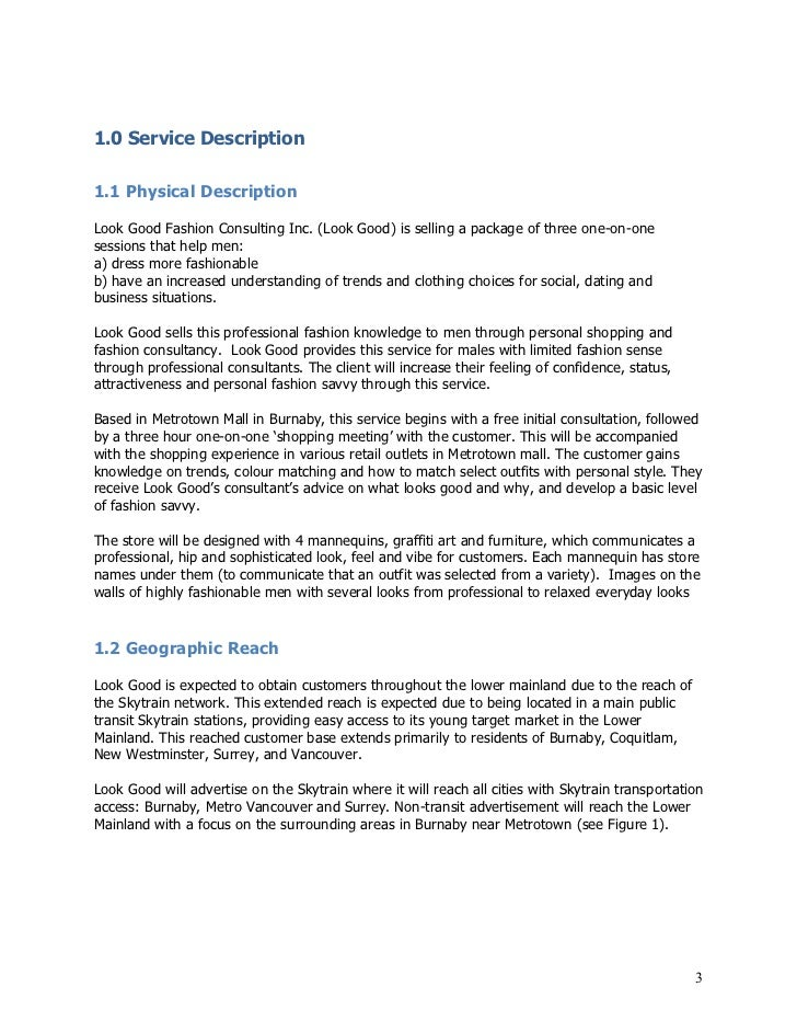 Fashion Business Plan Template. other business plan templates ...