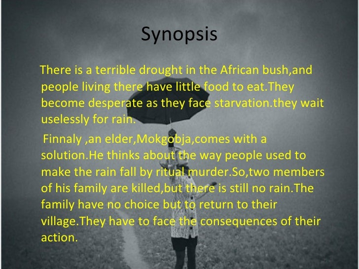 looking for a rain god essay Short african stories, folk tales, traditional myths, superstitions, ananzi and san fables.