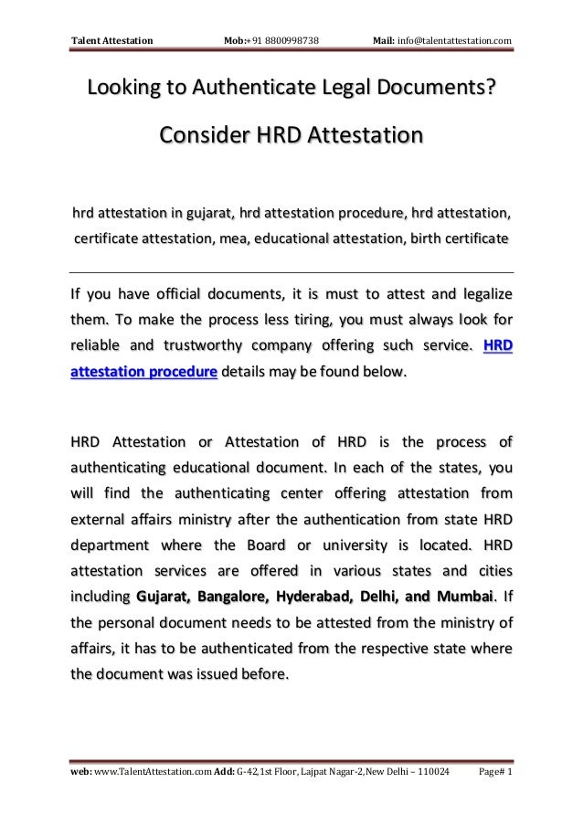 Looking To Authenticate Legal Documents Consider HRD Attestation - Find legal documents